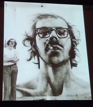 Chuck Close self portait